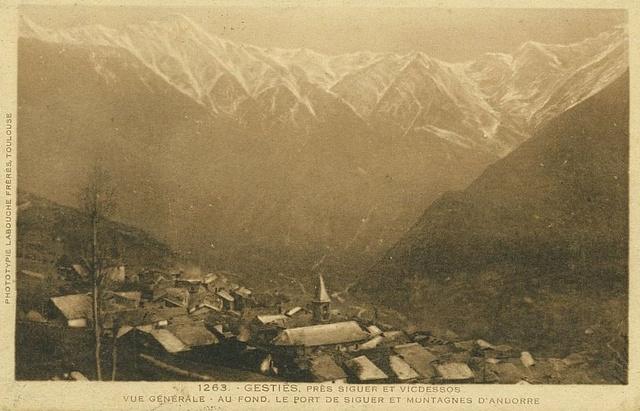 Gestiès, vue vers l'Andorre