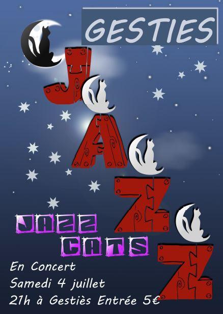Affiche du concert de Jazz Cats
